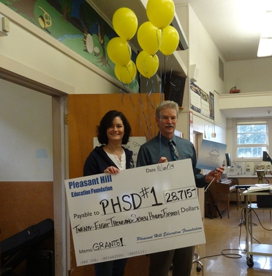 Mr. Light receives instrument repair grant
